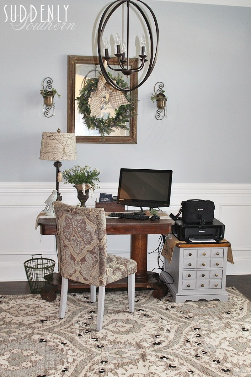 Suddenly Southern Pretty To Functional In My Home Office Lamp Shade Farmhousela Table Lamps Living Room Unique Living Room Furniture Living Room Leather #red #table #lamps #for #living #room