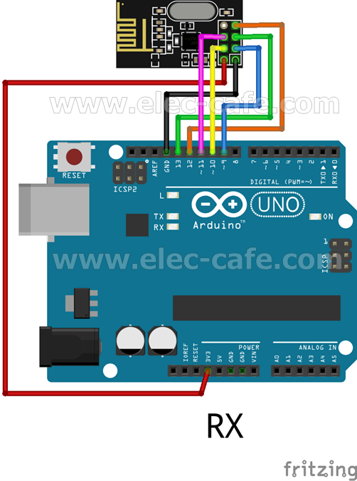 nRF24L01+ Wireless Temperature Monitoring DS18B20 Arduino UNO | Elec ...