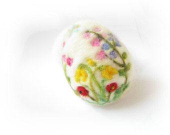 Feltro dell'uovo di Pasqua ago infeltrito uovo ornamento
