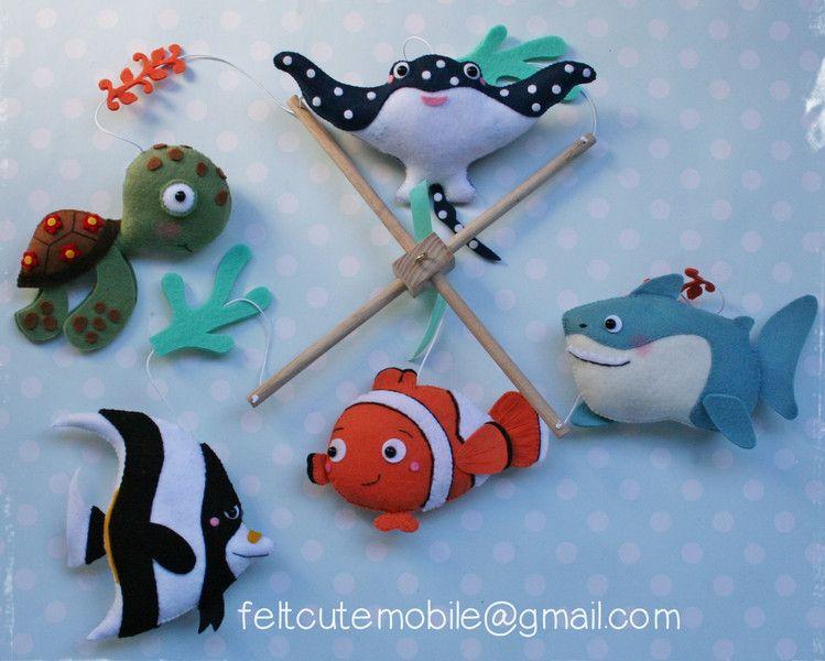 Mobile Nemo BabyMobile, Babybett Mobile, Kinderzimmer
