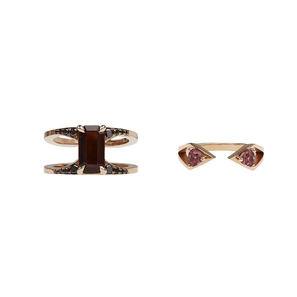 Mirage Ring Set Rosegold