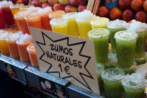 Snapshots From Spain Zumos From La Boqueria In Barcelona La