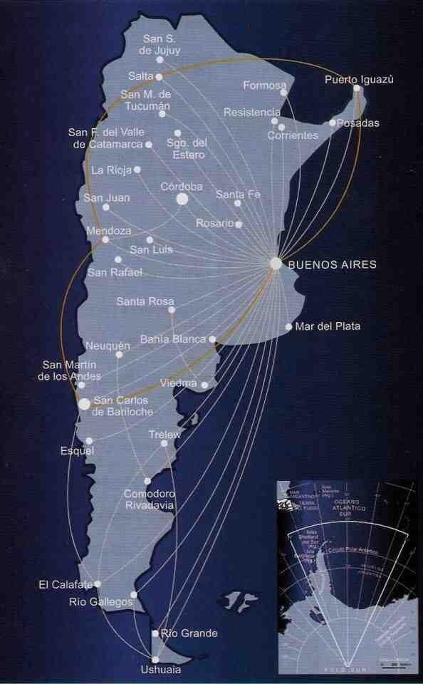 aerolineas argentinas route map Aerolineas Argentinas Route Map Route Map Travel Posters Route aerolineas argentinas route map