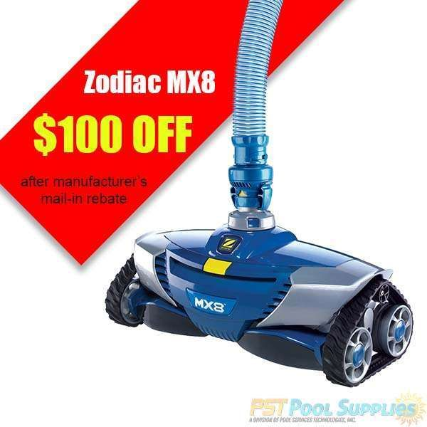 Pst Pool Supplies Zodiac Baracuda Mx8 Complete With Hose Cleaner 499 00 Https Pstpoolsupplies Com Zodiac Baracuda Pool Cleaning Pool Supplies Zodiac Mx8