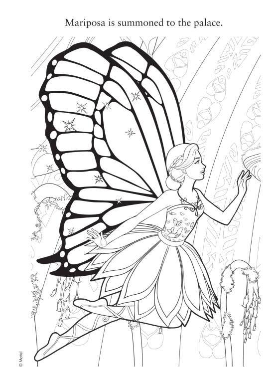 Sempre Barbie: Barbie Butterfly e a Princesa Fada - Páginas para ...