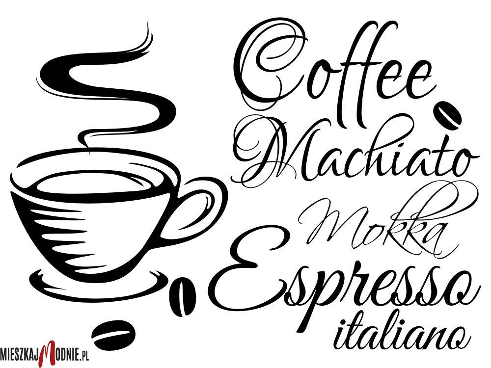 Mokka Espresso Coffee Kawa Naklejki Na ścianę Do Kuchni