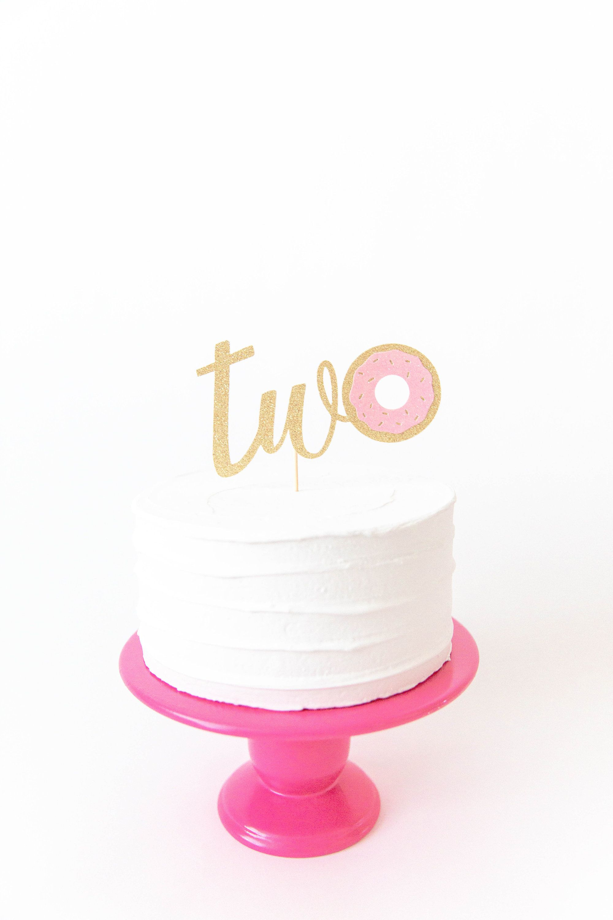 Two Donut Cake Topper