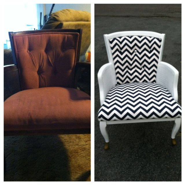 Easy Thrift Store Chair Makeover!...if only I had the ability to see this kind of potential