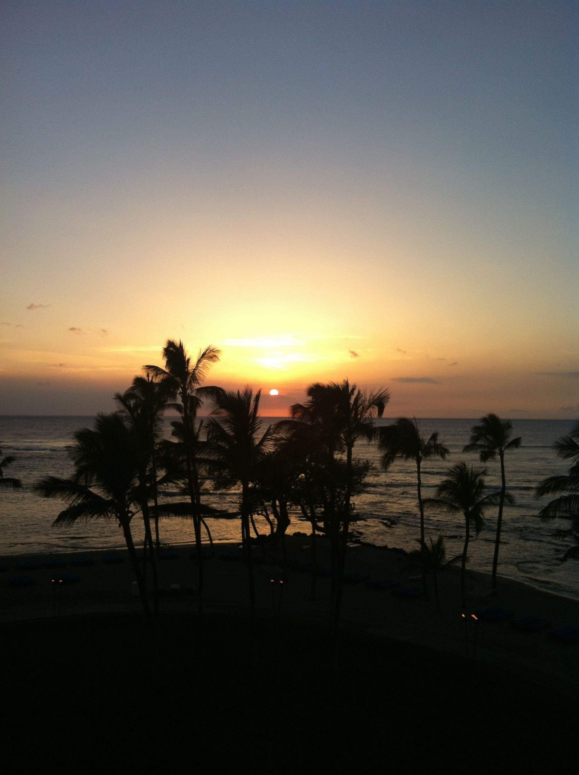 Sunset on Kohola Coast, Hawaii