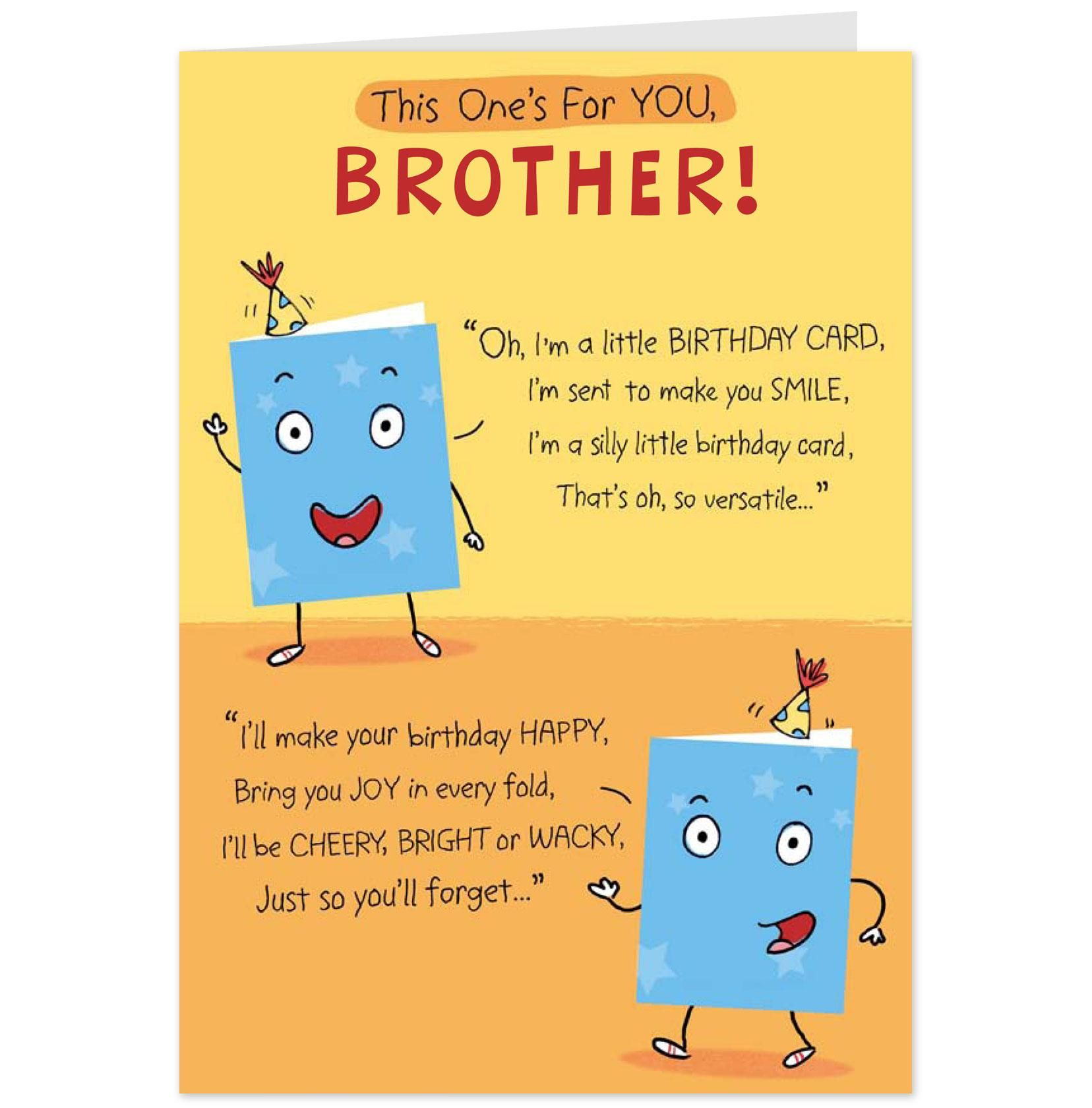 Birthday Card Brother My Birthday Pinterest