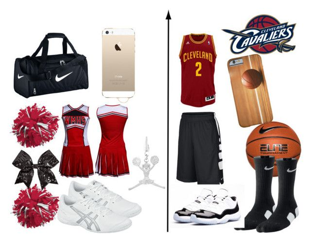 Basketball and Cheerleader by rodnesha11 on Polyvore featuring Asics and NIKE