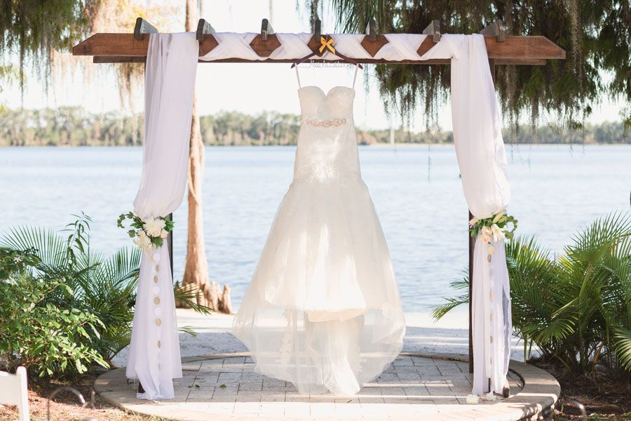 Sunset Wedding Ceremony And Reception At Paradise Cove Captured By Top Orlando Photographer