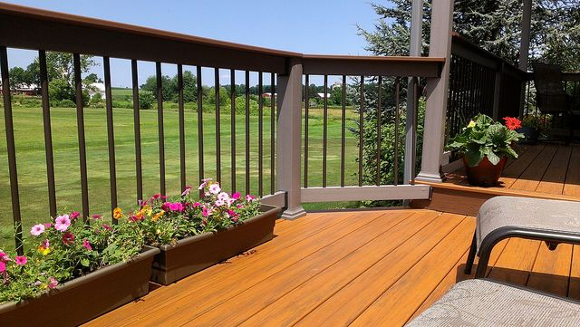 TimberTech Deck with black balusters that allow  a great view - timbertech.com