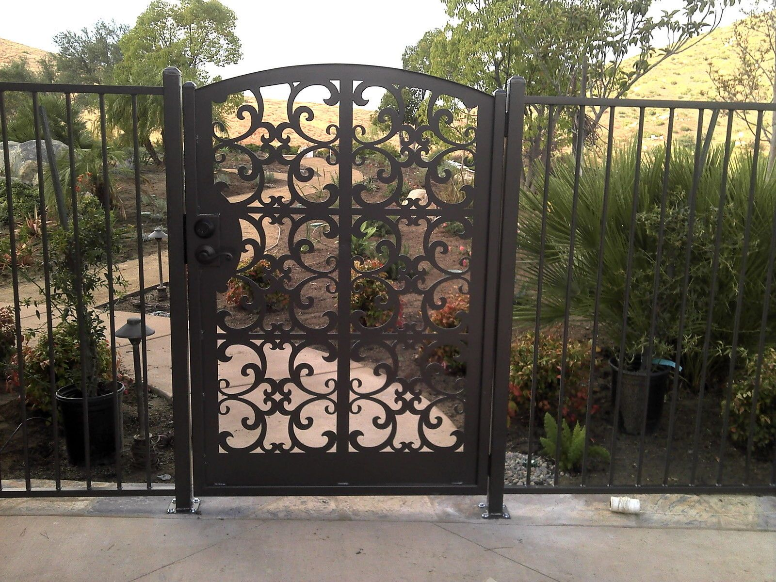 Ornamental iron gates wrought