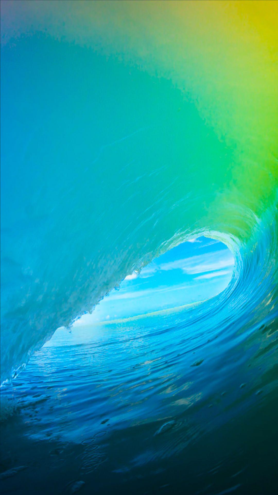 Wallpaper iphone bright - Pure Bright Cyan Ocean Surging Wave Pattern Ios9 Wallpaper Iphone 7 Wallpaper