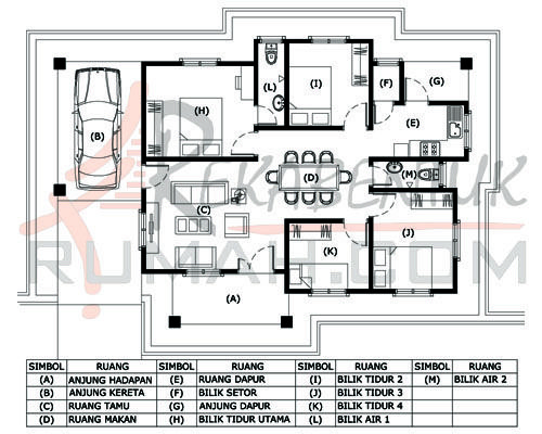 Rumah Teres Setingkat 4bilik Google Search Floor Plan 4 Bedroom Floor Plans How To Plan