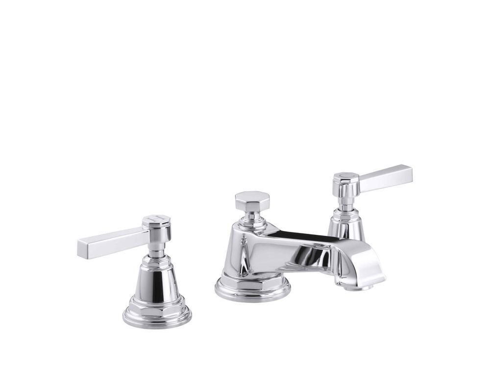 Pinstripe R Pure Widespread Bathroom Sink Faucet With Lever