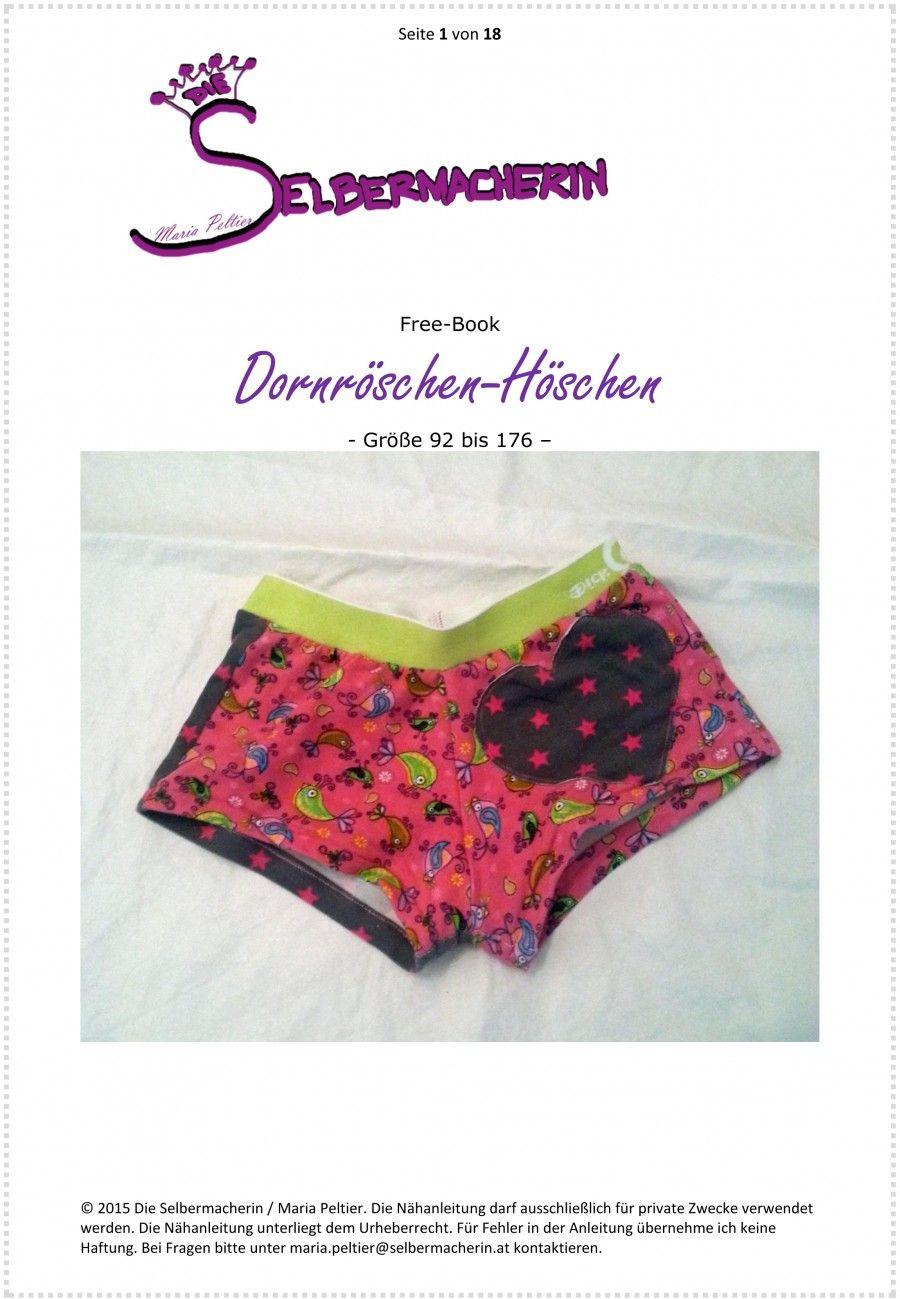 Dornröschen-Höschen, Unterhose 92-176 | nähen - mädchen | Pinterest ...