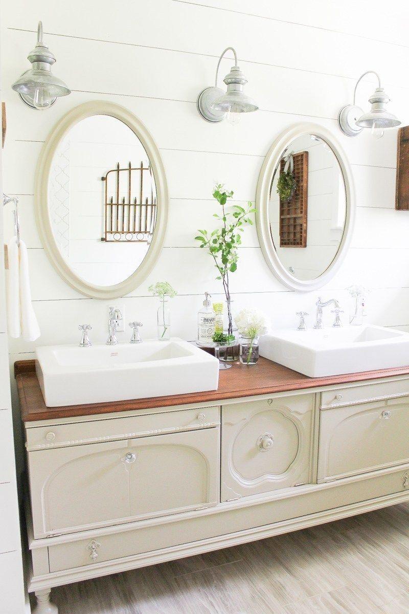Bathroom Inspiration Using A Dresser As A Vanity Diy Bathroom