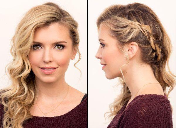 Peinados recogidos para cabellos rizados buscar con for Medio recogido con trenzas