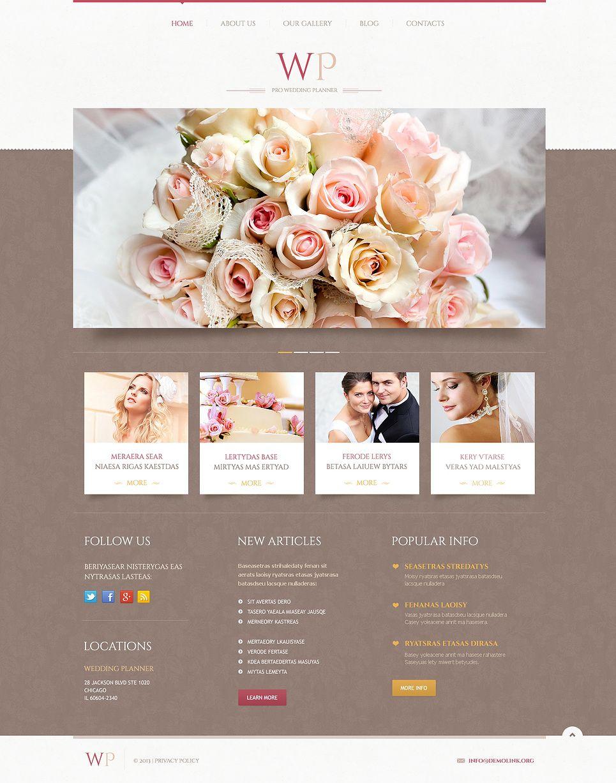 Tender Wedding Planner WordPress Theme Templatemonster Wedding Planning Websites Event Planner Website Wedding Event Planner