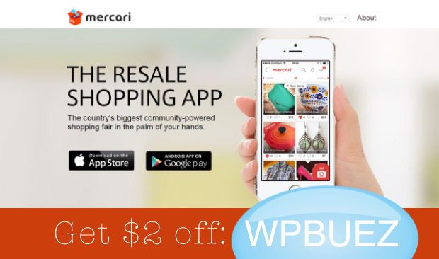 Download the Mercari app and get 2 free use code WPBUEZ