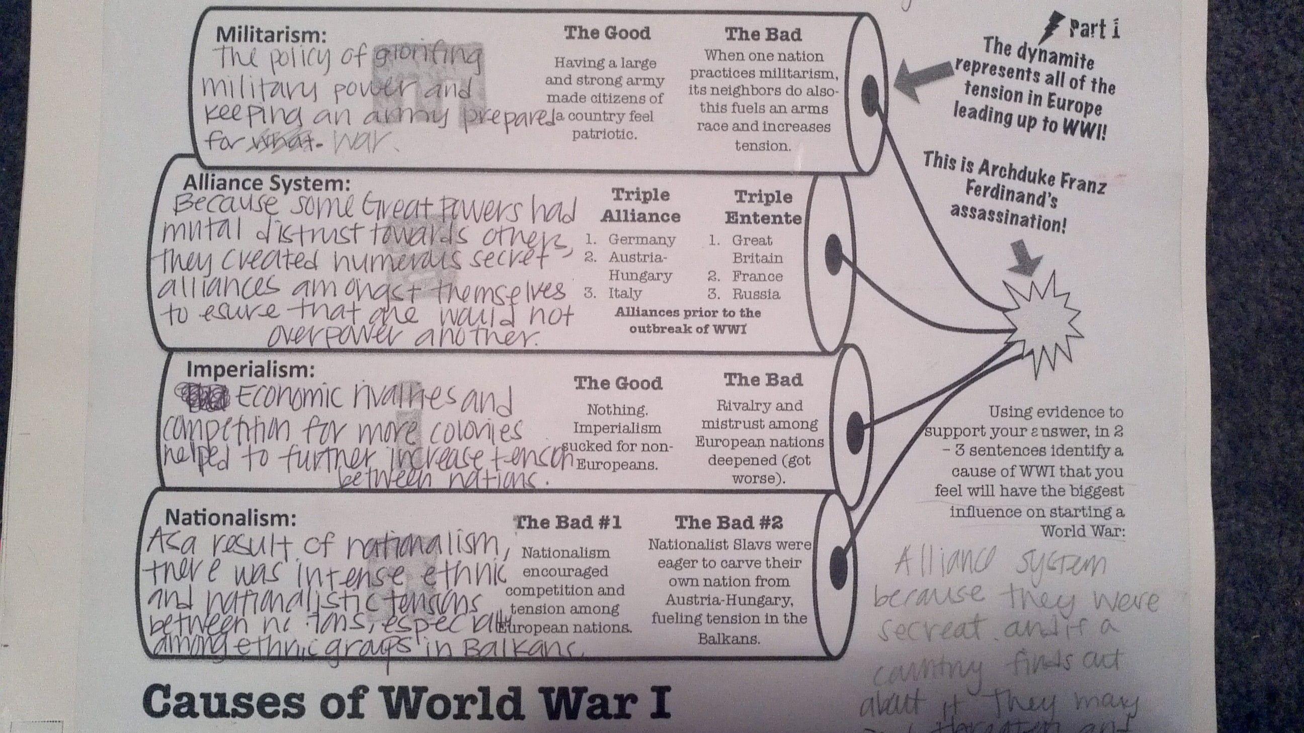 causes of world war 1 essay imperialism 1 world war 1 essay world war i the best known cause of world war i was the alliance system that imperialism, and nationalism world war i was a global war.