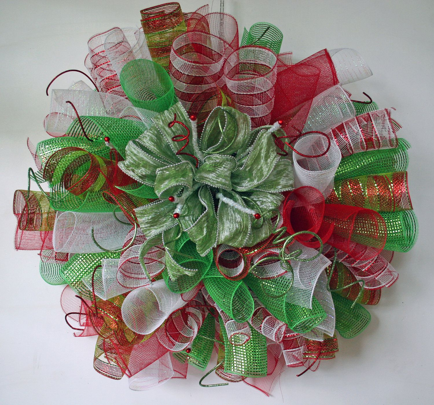 wreaths custom custom spiral mesh christmas wreath custom christmas wreath custom