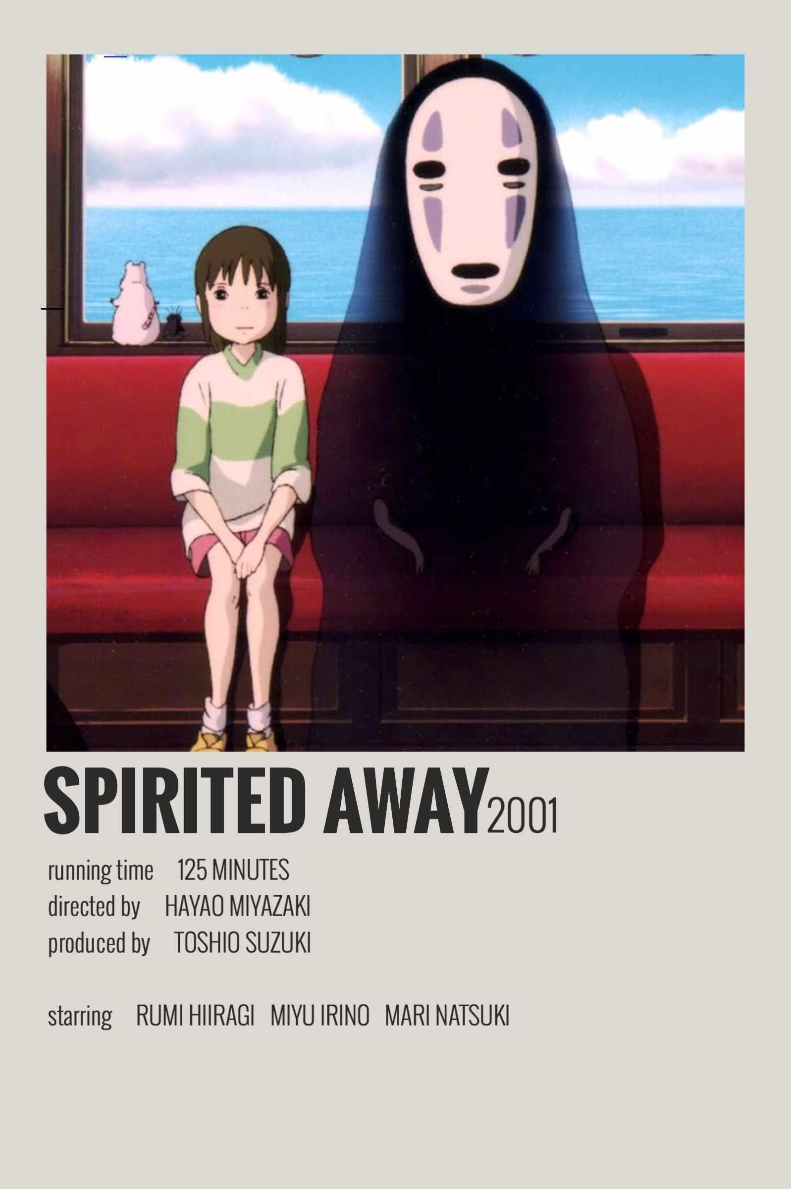 Alternative Minimalist Movie/Show Poster - Spirited Away ...