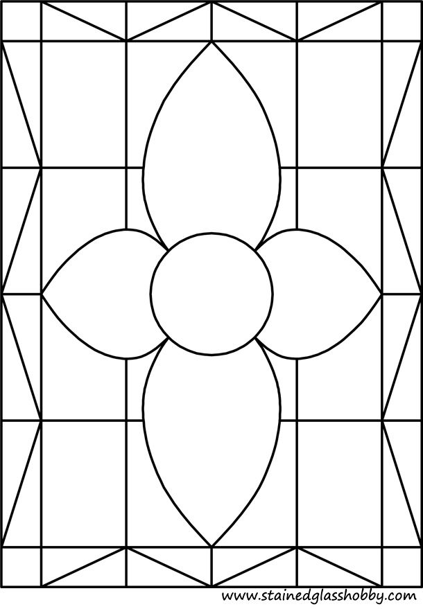 Rectangular Stained Glass Pattern Mosaicos Disenos De Unas