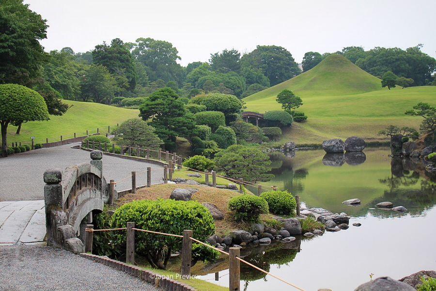 湧水池、水前寺成趣園、熊本 Spring Water Pond, Suizenji Joshuen, Kumamoto