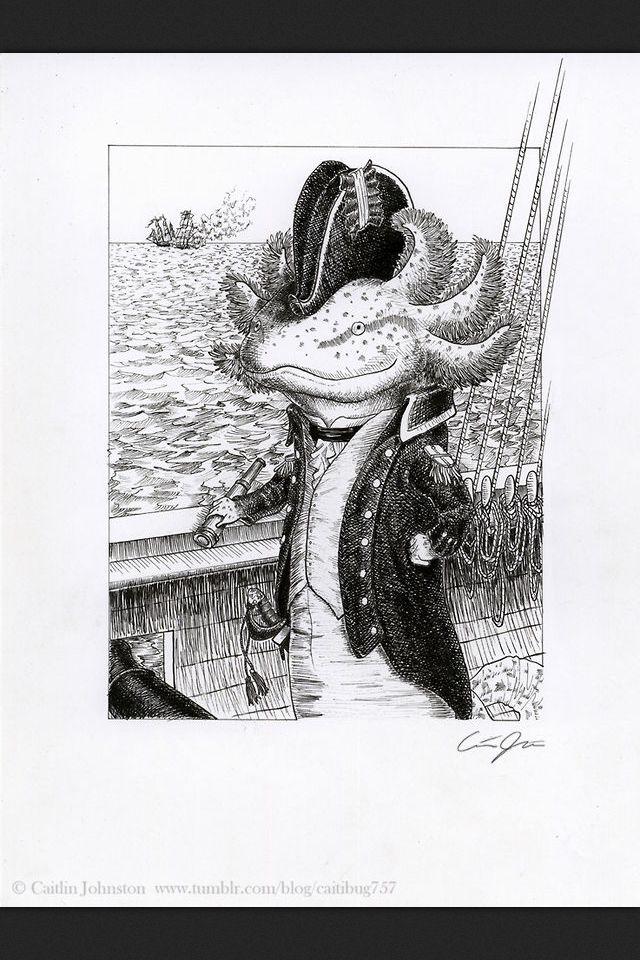 Captain Maxe, the Axolotl.