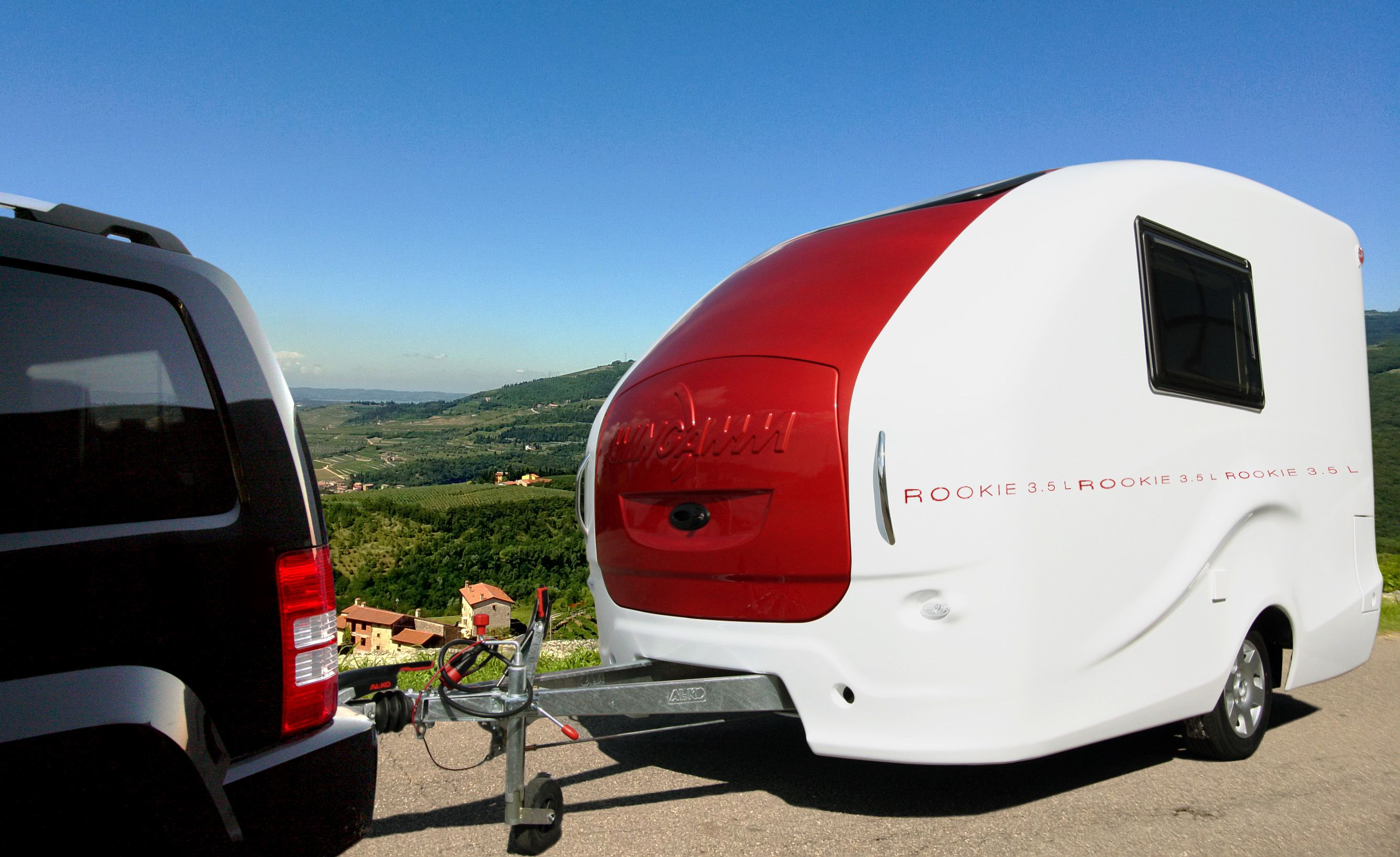 Wingamm Rookie 35 the stylish lightweight caravan with a weight