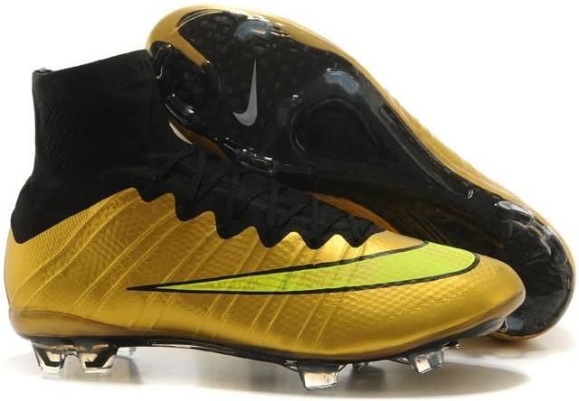 44d8478a2 Magista Nike Mercurial Superfly FG Fly line IV TPU soccer cleats gold black