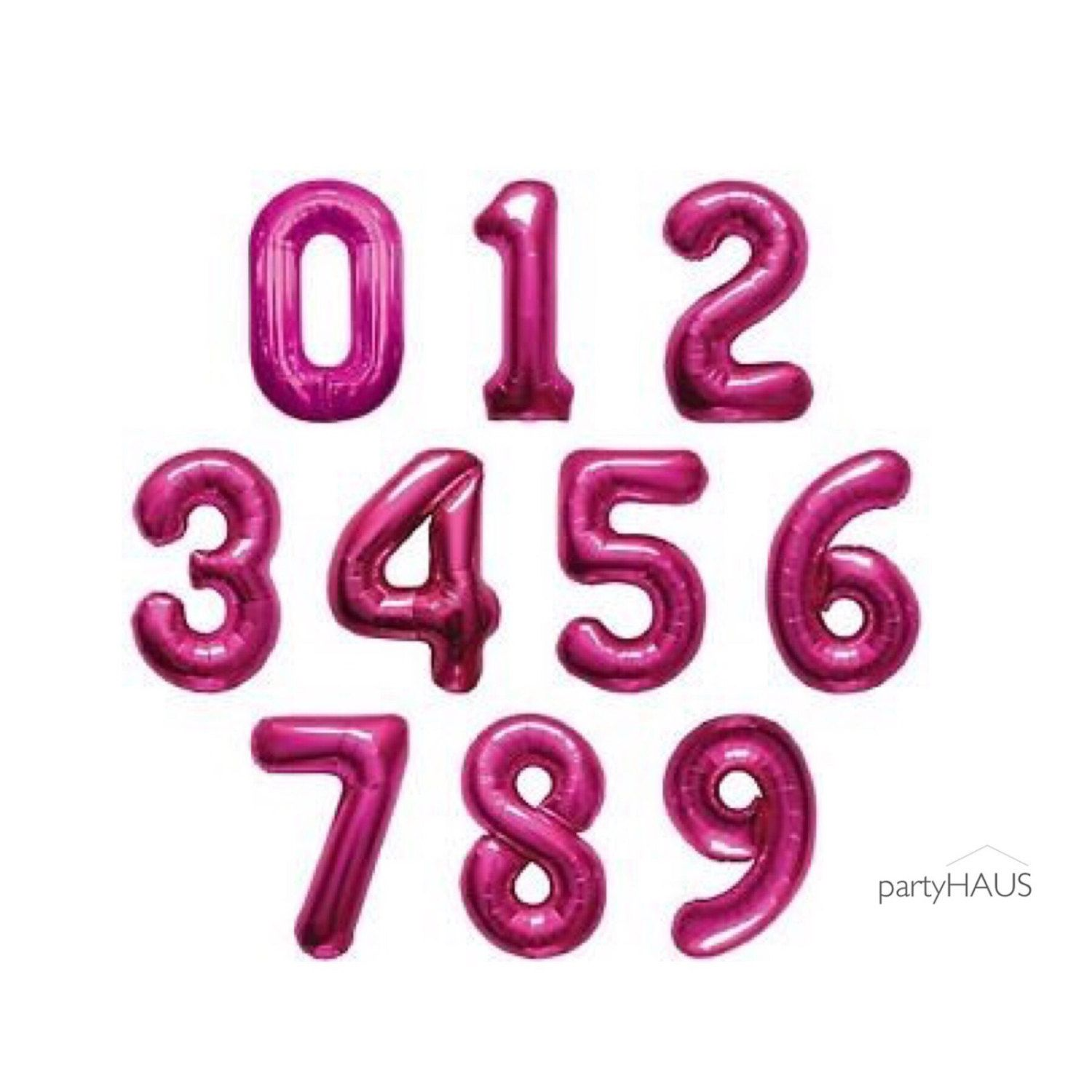 Photo of Pink Number Balloons, 13.5 or 34 Inch, Number, 0 1 2 3 4 5 6 7 8 9 Foil, Number Balloon, Birthday Party, Photo Shoot, Decoration, Milestone