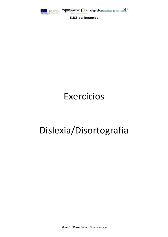 exerccios-dislexia-disortografia by Fmbmrd via Slideshare ...