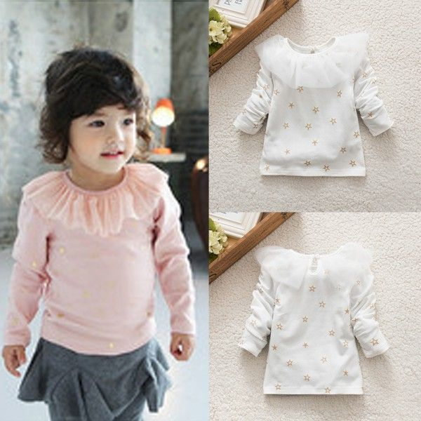 >> Click to Buy << Children Girl T-Shirts Ruffled Lace Cotton Children Girls Tops Clothes Blouse #Affiliate