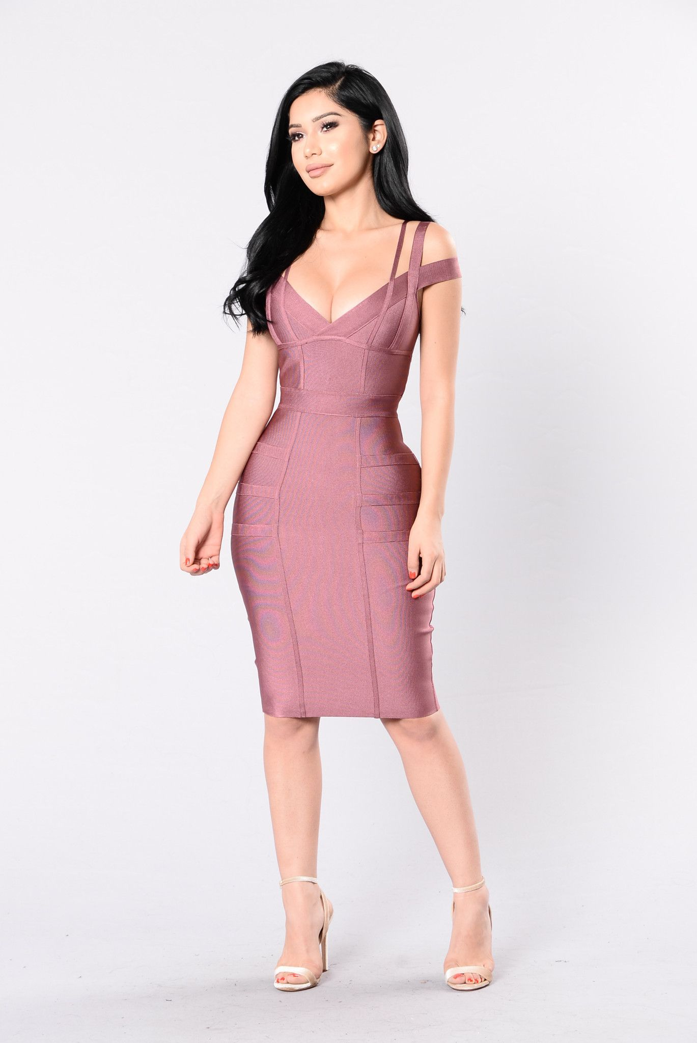 Lansa Bandage Dress - Dark Mauve | Ropa y Vestiditos