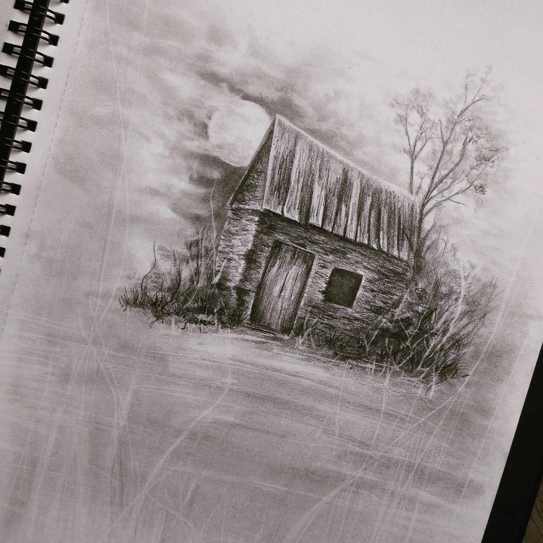 Altes Haus Bleistiftzeichnungen Skizzen Und Zeichnungen