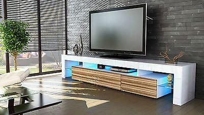 Mobile tavolo porta TV moderno laccato lucido salotto soggiorno ...