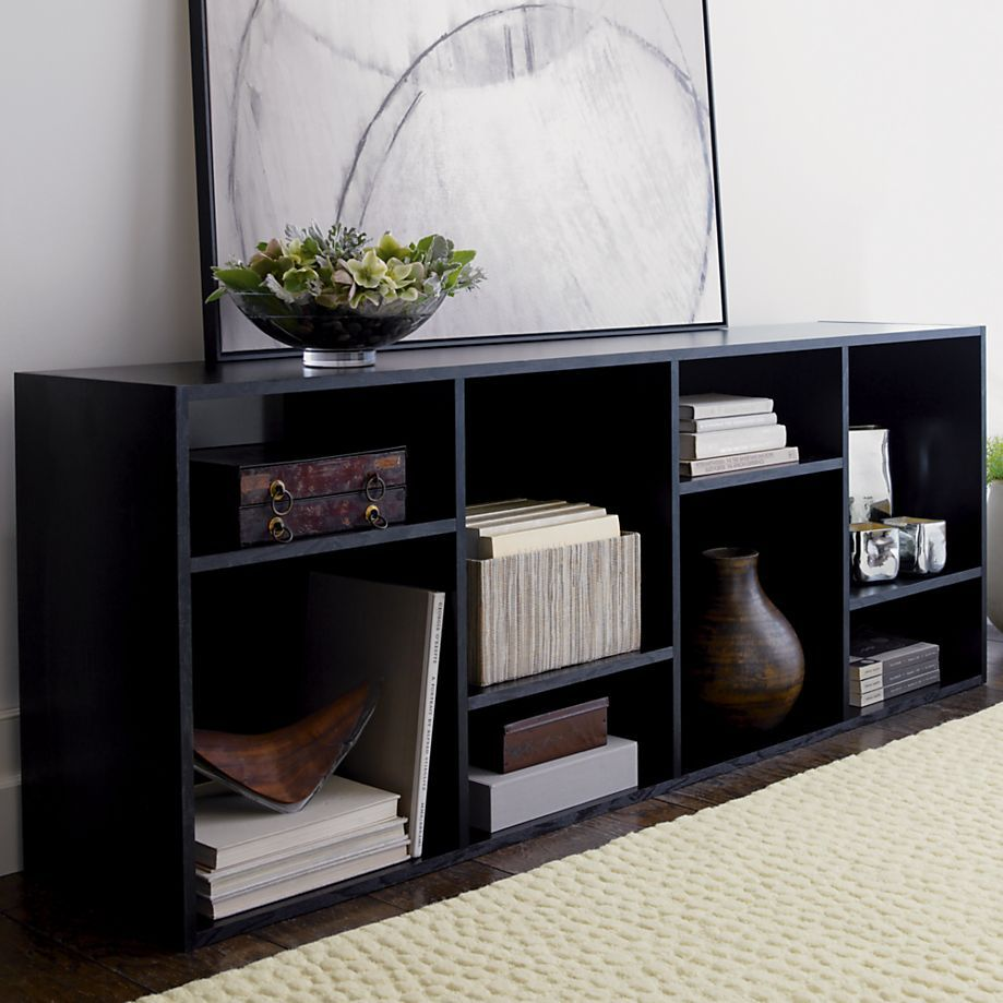 The Shift Media Console/Bookcase From Crate U0026 Barrel Can Be Used As A  Console, Bookcase And Room Divider Design Inspirations