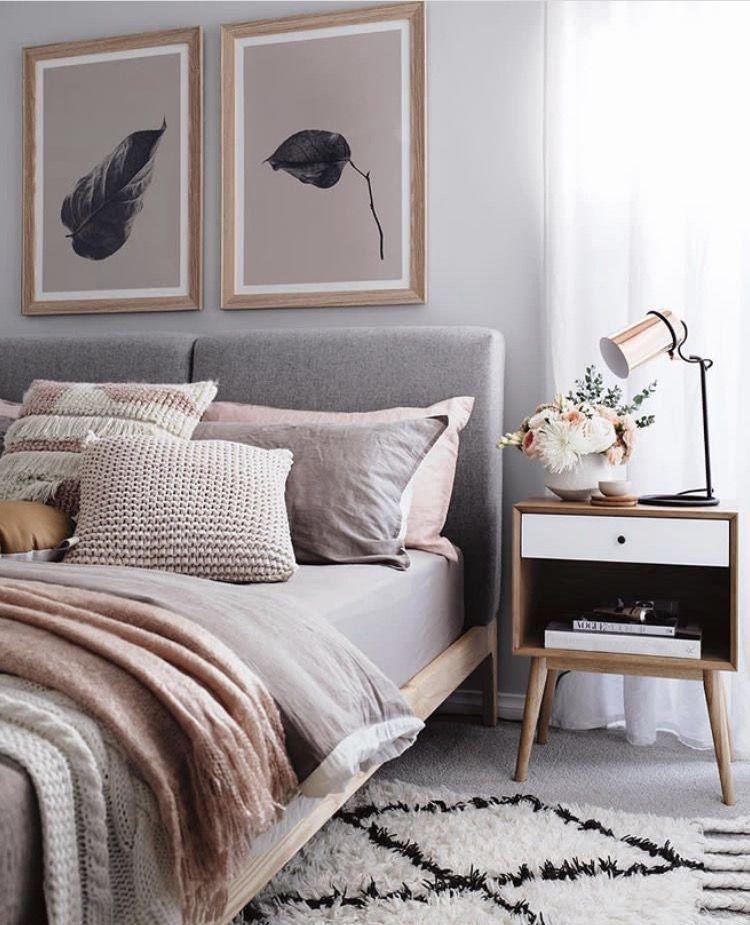 Blush Tone Bedroom Love Rug