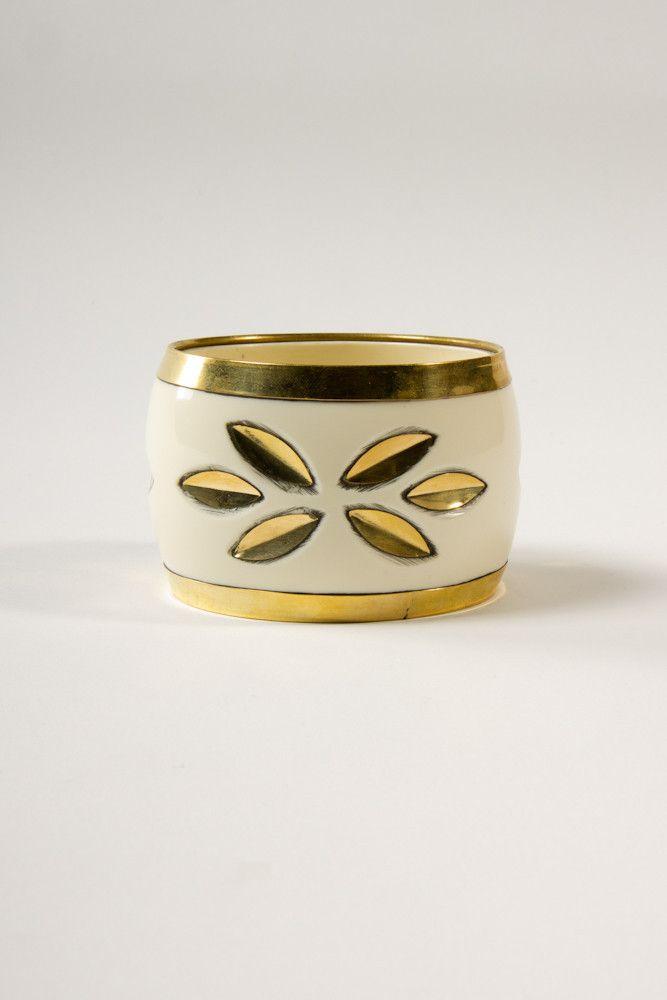 Gilded Cream Bangle