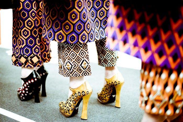 Crazy prints at Prada