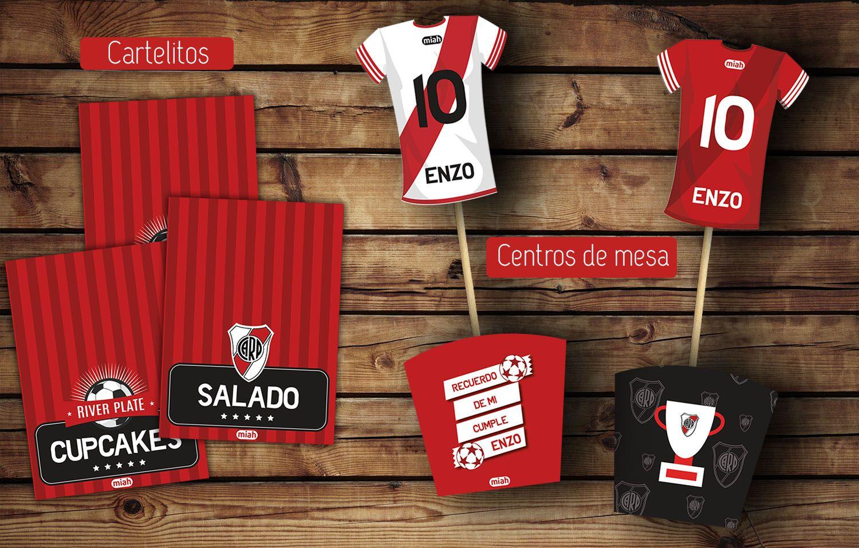 1cc0662a2 #River #kitcumple Cartelitos comida #cajas y camisetas para centros de mesa  #imprimible