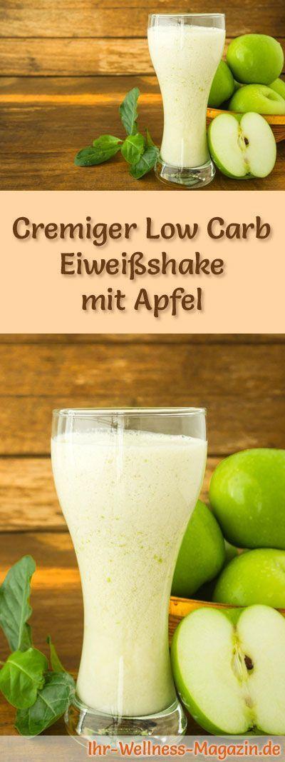 Apfel-Eiweißshake - Low-Carb-Eiweiß-Diät-Rezept #proteinshakes