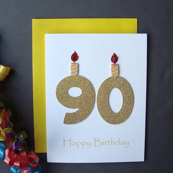 90th Birthday Card Milestone Adult By ZeeBestCards