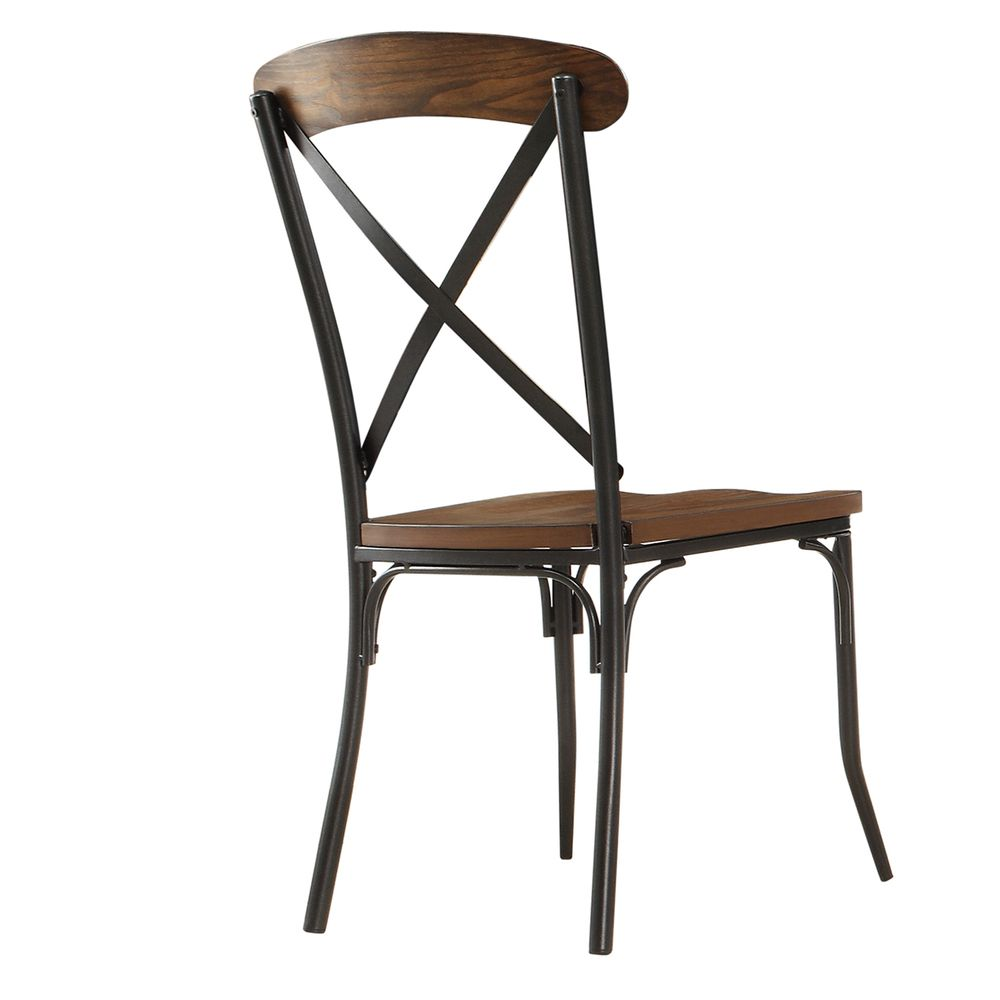 Nelson Industrial Modern Rustic Cross Back Dining Chair by iNSPIRE Q Classic  (Set of 2) by iNSPIRE Q