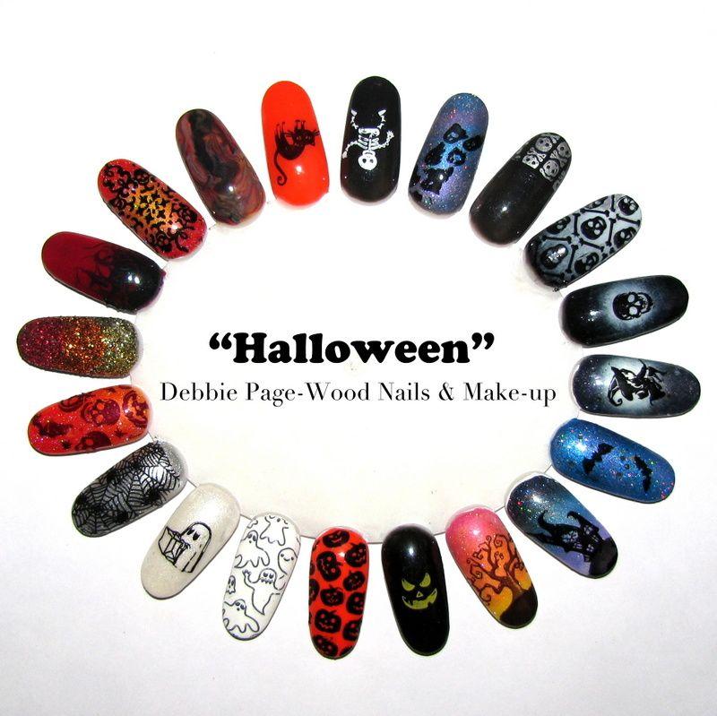 Halloween nail art ideas halloween nailart wood nails