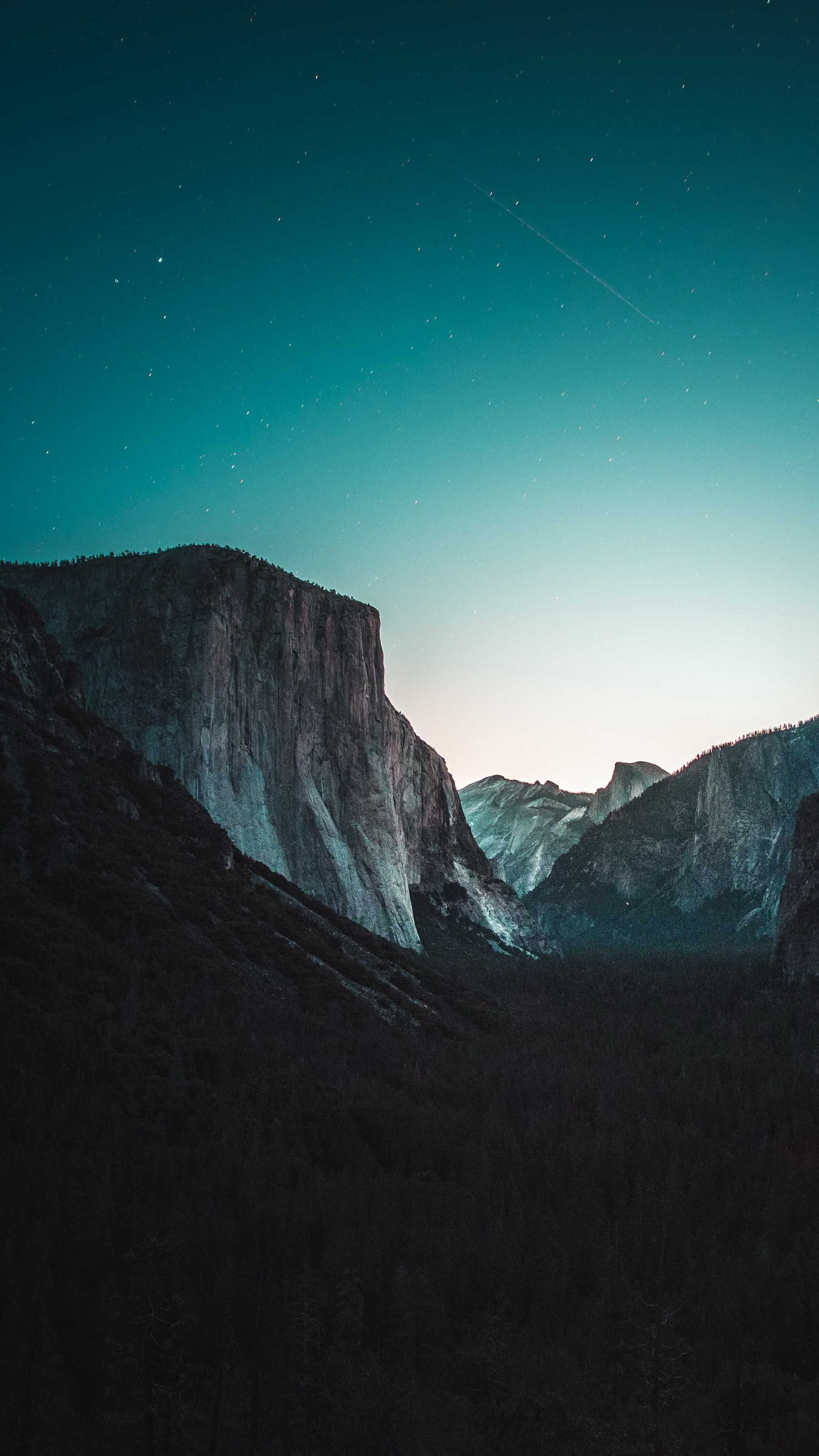 Yosemite Night iPhone Wallpaper from iphoneswallpapers.com